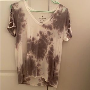black and grey spotted shirt